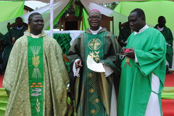 MOST REV. MATTHIAS KOBENA NKETSIAH HAS RAISED THE ST. JOHN THE EVANGELIST QUASI PARISH AT ABREM AGONA NEAR ELMINA TO THE STATUS OF A PARISH