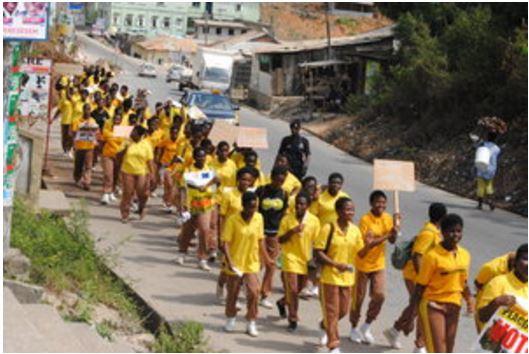 Holy Child School On A Peace Walk